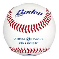 Baden Official League Collegiate Flat Seam Baseballs - Dozen