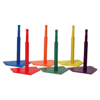 Champion Sports Deluxe Six Color Batting Tee Set