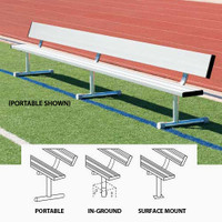 MacGregor Aluminum Player Benches With Backs