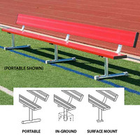 MacGregor Colored Aluminum Benches With Backs