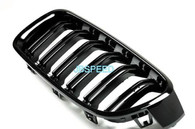 BMW Dual Slat Gloss Black Grills For F32/F33/F36 (Free Express Shipping)