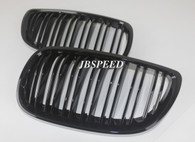 BMW Dual Slat Gloss Black Grills for E92/E93 Facelift (Free Express Shipping)