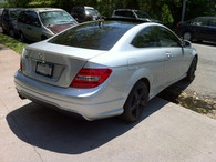 Mercedes Benz AMG Style Painted Trunk Spoiler (ABS Material) For C204 Coupe