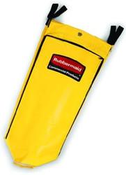 RCP9T80YEL   Vinyl Cleaning Cart Bag, 26gal, Yellow, 17 1/2w x 10 1/2d x 33h