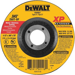 115-DW8857H   DeWalt Extended Performance Metal Cutting Wheels