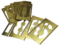 337-10012 | C.H. Hanson Brass Stencil Number Sets