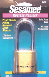 197-K0437 | CCL Sesamee  Keyless Padlocks