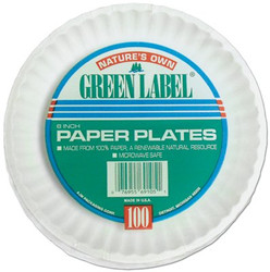 017-PP9GREWH | AJM Uncoated Paper Plates