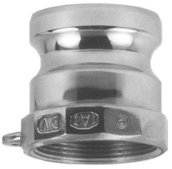 238-100-A-SS | Dixon Valve Andrews/Boss-Lock Type A Cam and Groove Adapters