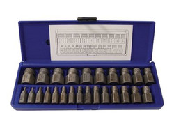 585-53227 | Irwin Hanson Hex Head Multi-Spline Screw Extractors - 532 Series - Plastic Case Sets