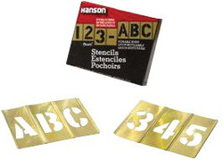 337-10154   C.H. Hanson Brass Stencil Letter & Number Sets