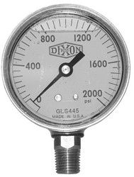 238-GLBR600-4 | Dixon Valve Brass Liquid Filled Gauges