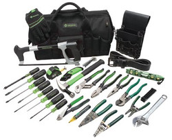 332-0159-11 | Greenlee 28 Pc. Master Electrician's Tool Kits