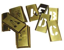 337-10165   C.H. Hanson Brass Stencil Gothic Style Letter Sets