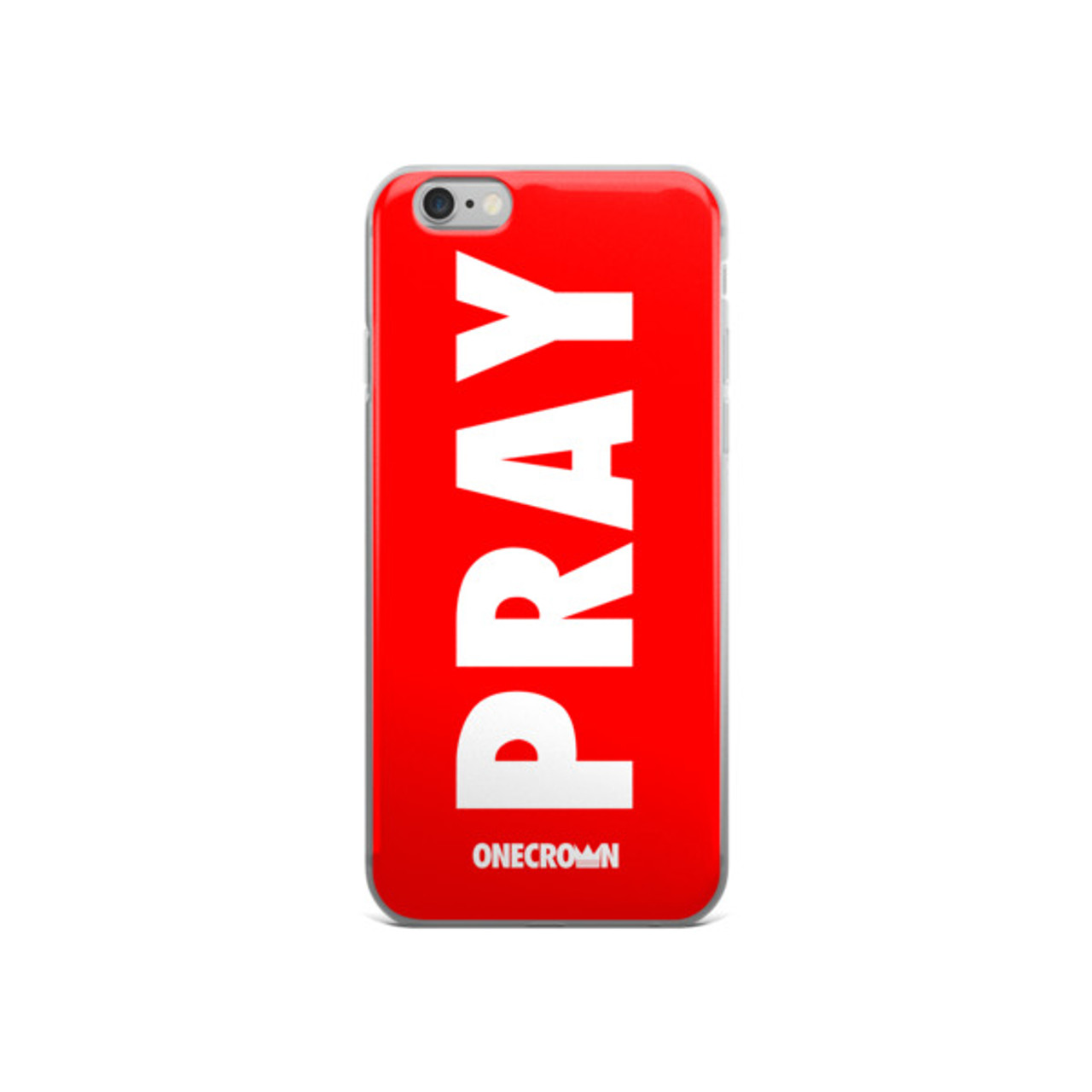PRAY iPhone Case - 5/5s/Se, 6/6s, 6/6s Plus - Red