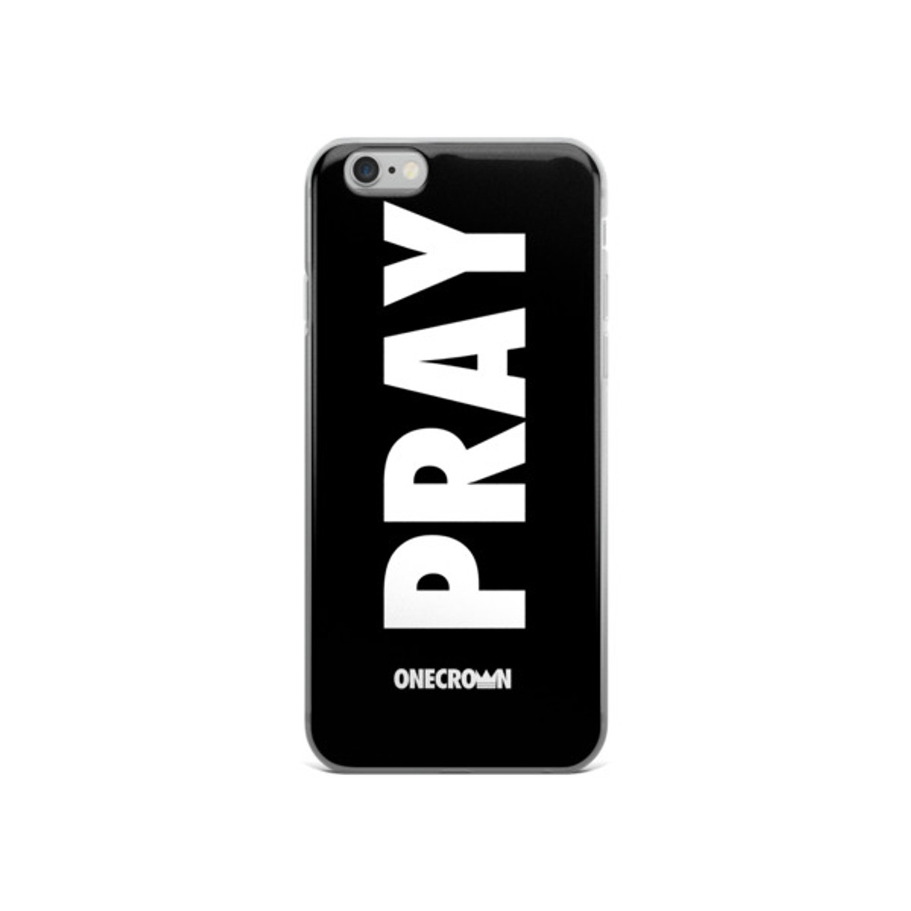 PRAY iPhone 5/5s/Se, 6/6s, 6/6s Plus Case - Black
