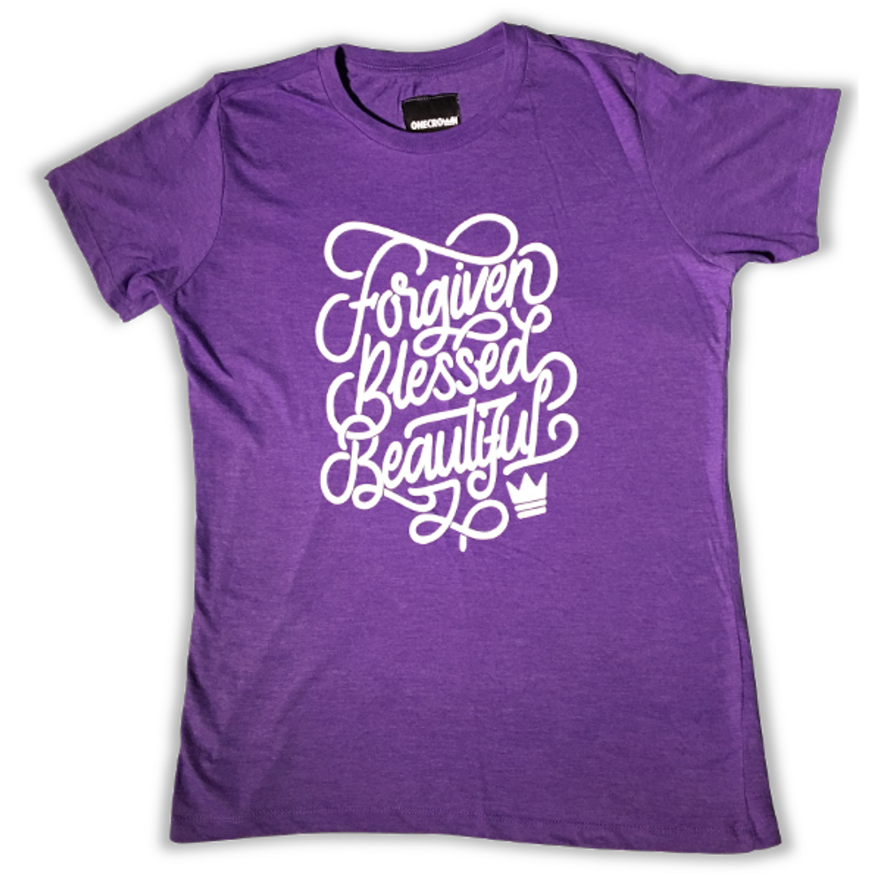 Forgiven Blessed Beautiful - Purple Tee
