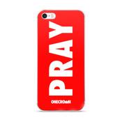 PRAY iPhone Case - 5/5s/Se, 6/6s, 6/6s Plus - Red