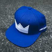 Royal Blue Crown Snapback Hat, Christian Streetwear
