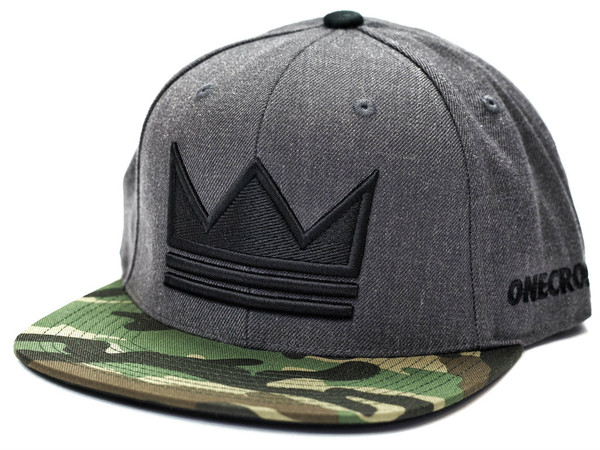ONECROWN - Snapback Hat - Gray/Camo