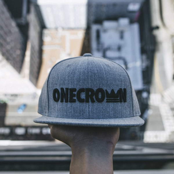 Onecrown Logo - Snapback Hat - Gray