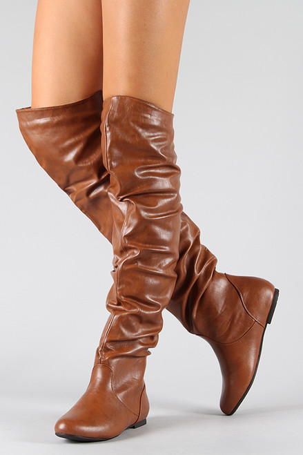 slouchy thigh high flat boot fashionboutique2015