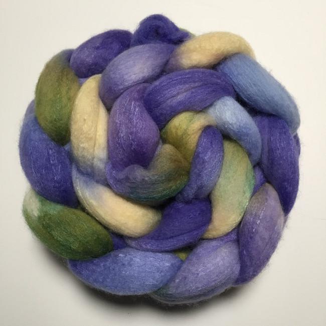 """Bluebonnet"" Handpainted Polwarth/Silk Top (4oz)"
