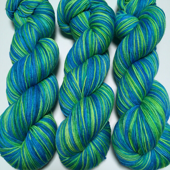"""Jungle Boogie"" Hand Dyed Hitchhiker Sock Yarn"