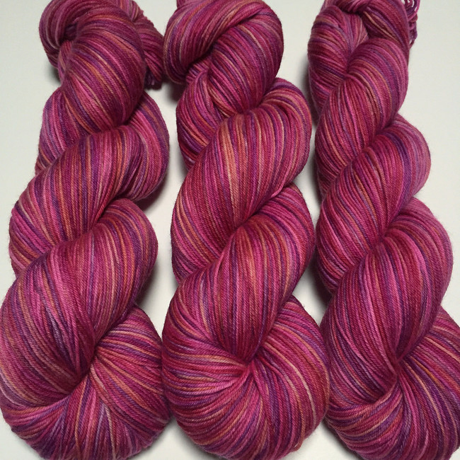 """Samba"" Hand Dyed Hitchhiker Sock Yarn"