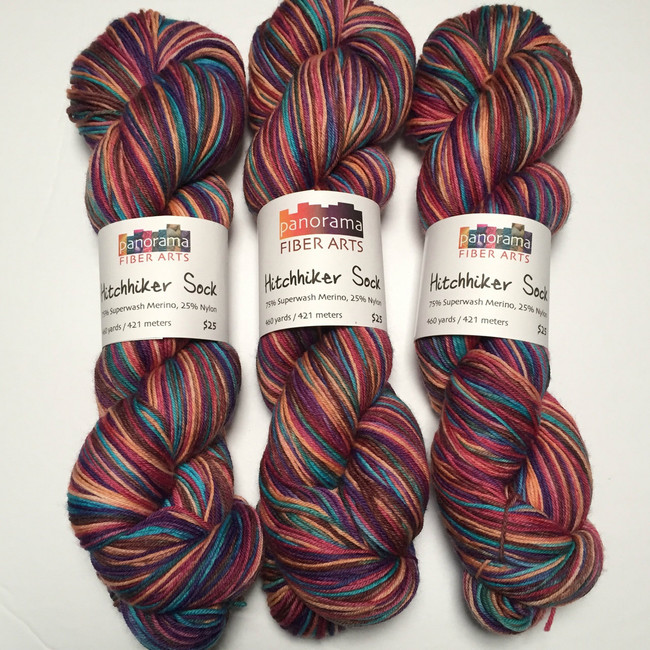 """Marrakesh"" Hand Dyed Hitchhiker Sock Yarn"