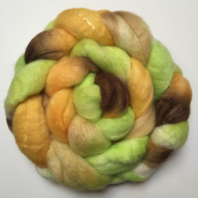 """Daisy Ring"" Handpainted Polwarth/Silk Top (4oz)"