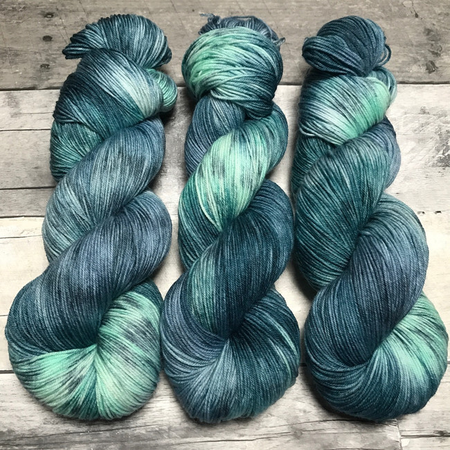 """Torrent"" Hand Dyed Hitchhiker Sock Yarn"