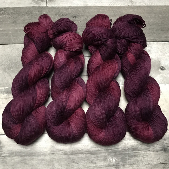 """""""Rare Vintage"""" Hand Dyed Hitchhiker Sock Yarn"""