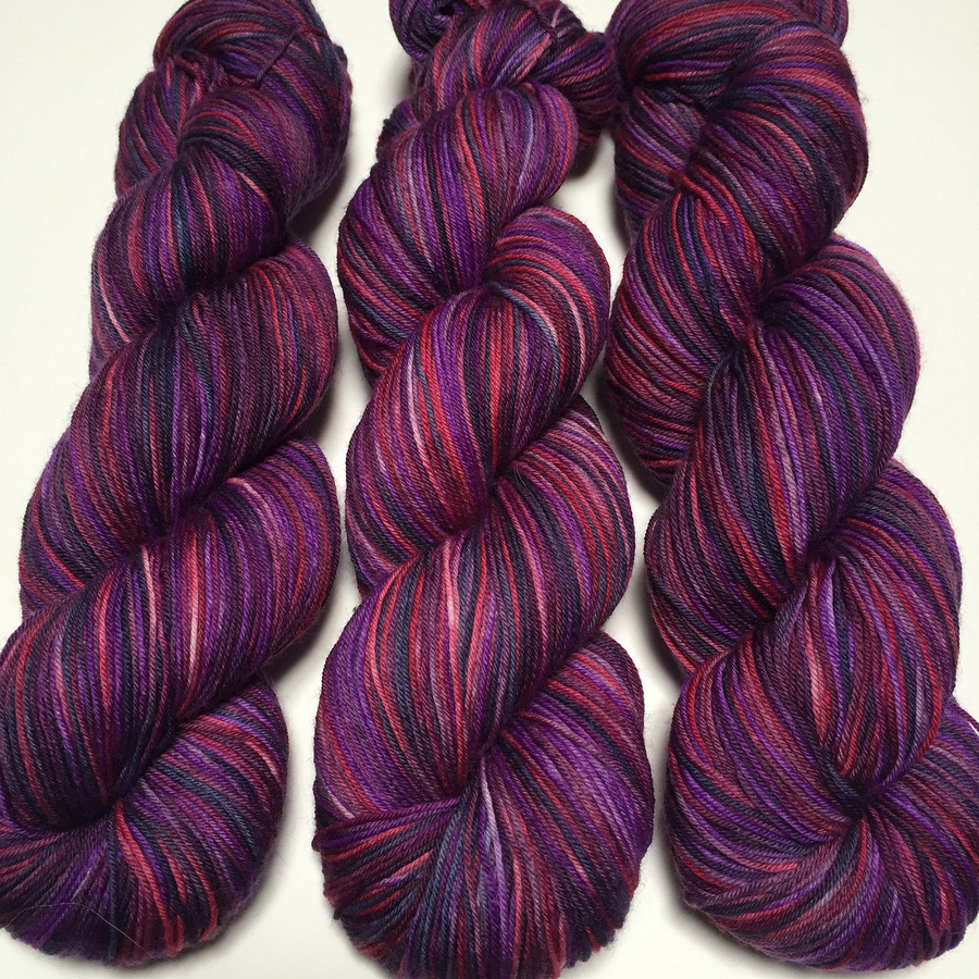 """""""Down the Rabbit Hole"""" Hand Dyed Hitchhiker Sock Yarn"""