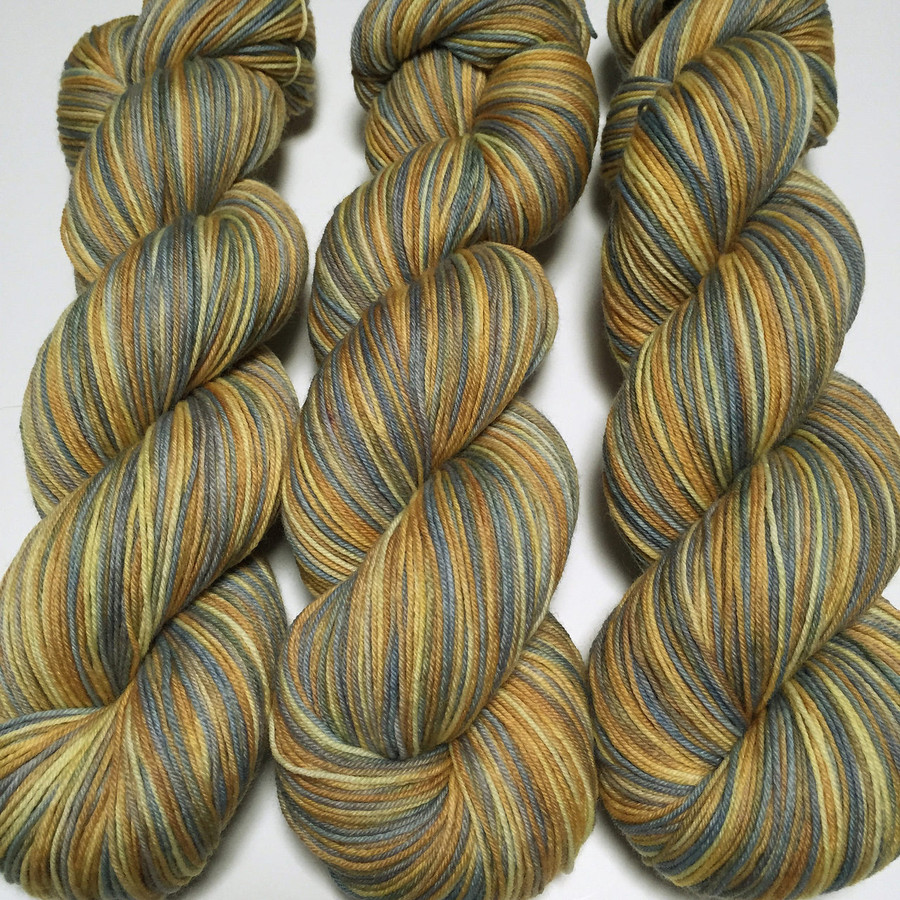 """""""Lonely Road"""" Hand Dyed Hitchhiker Sock Yarn"""