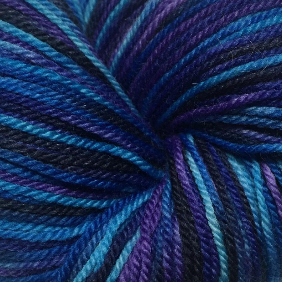 """Abyss"" Hand Dyed Wanderlust Sock Yarn"