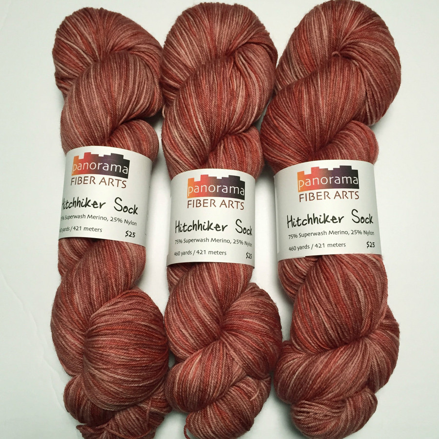 """Canyonlands"" Hand Dyed Hitchhiker Sock Yarn"