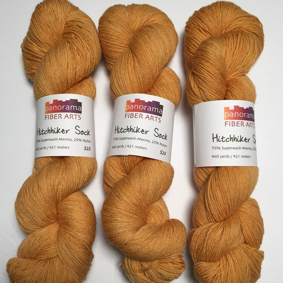 """Dijon"" Hand Dyed Hitchhiker Sock Yarn"