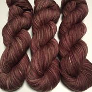 """Brown Sugar Fig"" Hand Dyed Hitchhiker Sock Yarn"