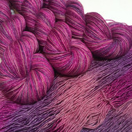 """Heartthrob"" Hand Dyed Starstruck sparkle yarn (LIMITED EDITION)"