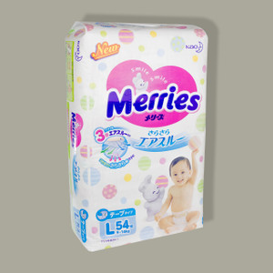 Merries Diapers L size (9-14 kg)