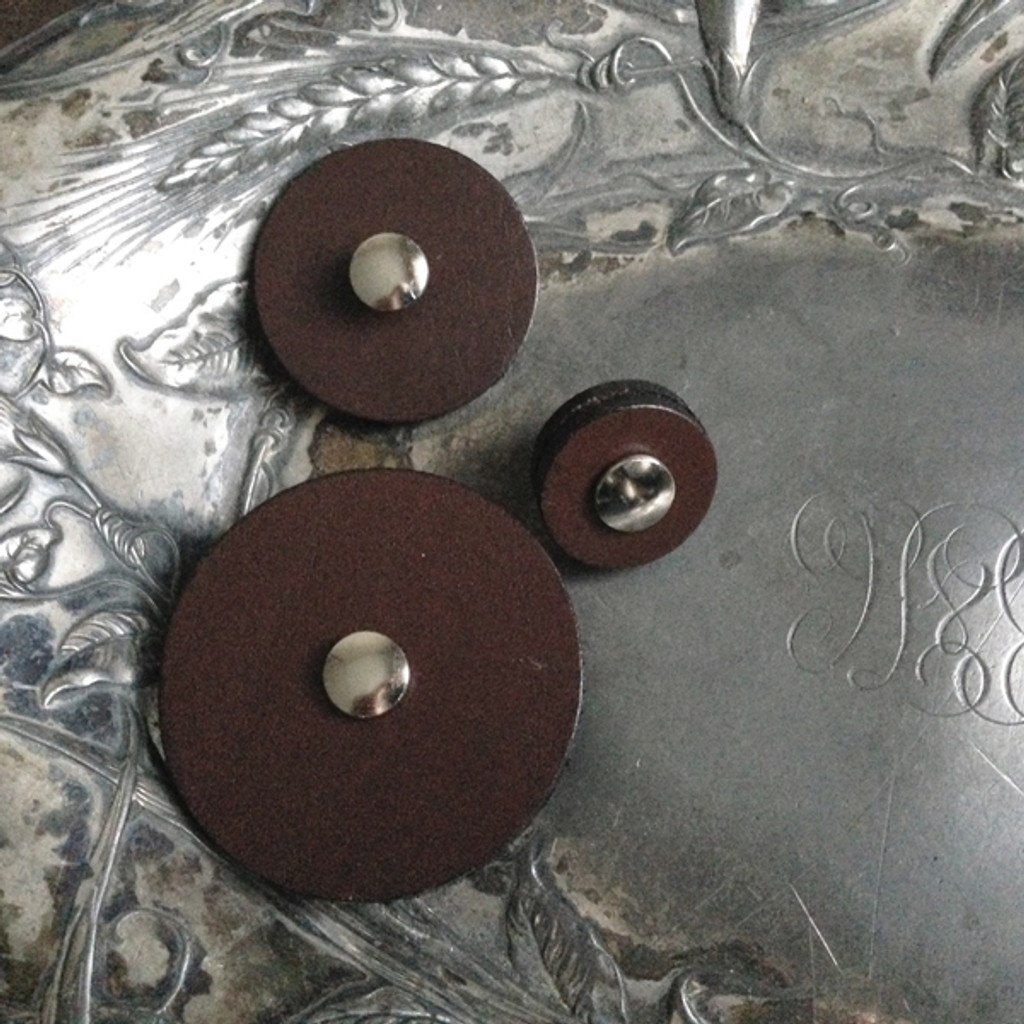 Leather Pedestal Buttons