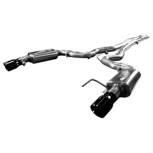 "2015-2017 Mustang 5.0L V8 KOOKS OEM to 3"" Cat-Back Exhaust w/ X-Pipe & Black Tips"