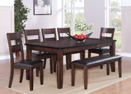 DINETTE 6 PIECE MALDIVES - (SHOWN AS 7PC W/BENCH)