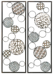 FRAMED METAL CIRCLES-2PC