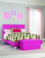 Pink Full Youth Platform Bed
