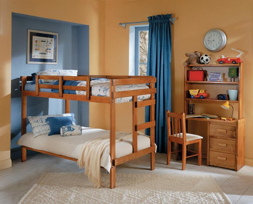Twin Wood Bunk Bed
