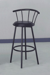 "Black 29"" swivel bar stools, 2 per box"