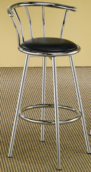 "CHROME SWIVEL BAR STOOL 29"", pack 2 per box"