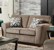 CORNELL PEWTER LOVESEAT